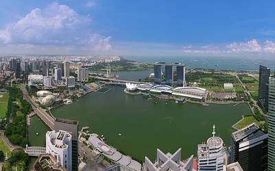 Photograph - Singapore City From Roof Top Of Hotel In Day Time by Anek Suwannaphoom