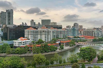 Photograph - Singapore Cityscape Along Robertson Quay by Jit Lim