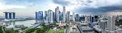 Photograph - Singapore Cityscape by Chris Cousins