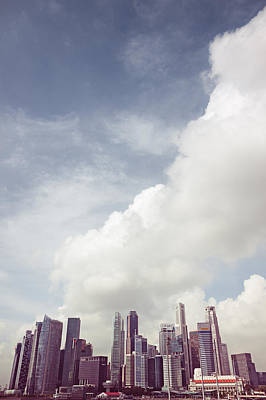 Art Print featuring the photograph Singapore Cityscape by Joseph Westrupp