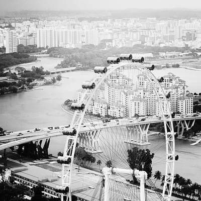 Singapore Photograph - Singapore Flyer by Nina Papiorek