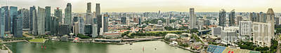 Photograph - Singapore From Across Marina Bay by Werner Padarin