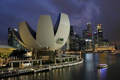 Photograph - Singapore Harbor by Diane Height