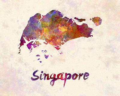 Mandarin Painting - Singapore In Watercolor by Pablo Romero