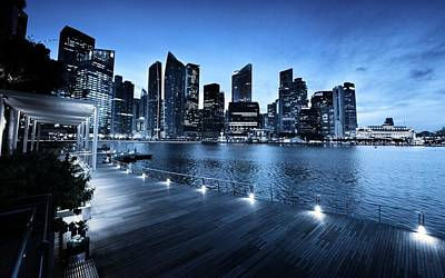 Buildings Digital Art - Singapore by Maye Loeser