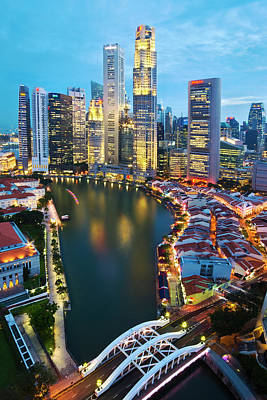 Singapore River Art Print by Ng Hock How