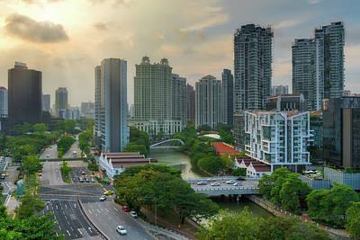 Photograph - Singapore Skyline Along Singapore River by Jit Lim