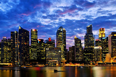 Photograph - Singapore Skyline by Fabrizio Troiani