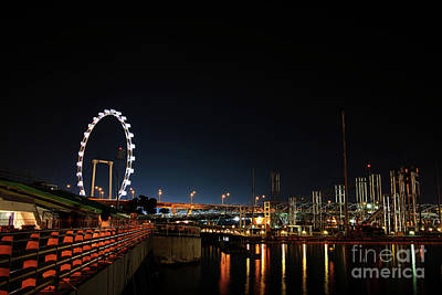 Singapore Waterfront Art Print by Jaroon Ittiwannapong