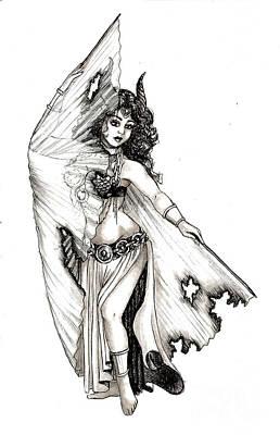 Drawing - Singed Dancer by Scarlett Royal
