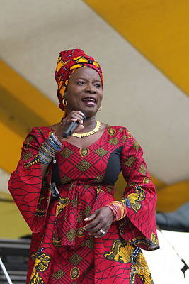 Photograph - Singer Angelique Kidjo by Concert Photos