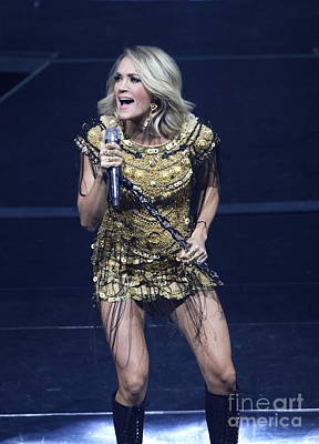 Photograph - Singer Carrie Underwood by Concert Photos