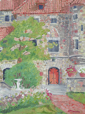 Bridal Path Painting - Singer Castle Grand Room Door by Robert P Hedden