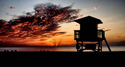 Photograph - Singer Island Silhouette by Mike Sperduto