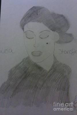 Singer Lisa Stanfield Art Print