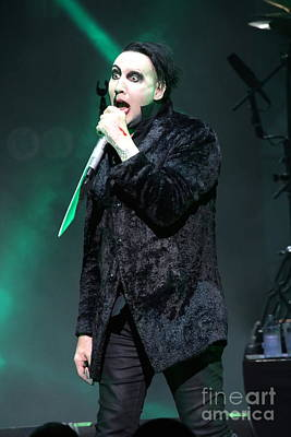 Marilyn Manson Photograph - Singer Marilyn Manson by Concert Photos