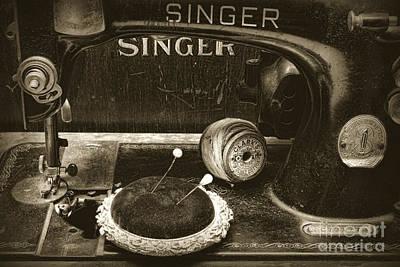 Bobbin Photograph - Singer Sewing Machine And A Victorian Pin Cushion by Paul Ward