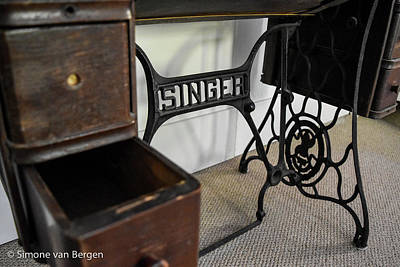 Photograph -  Singer Sewing Machine Table by Simone Van Bergen