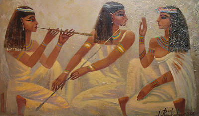 Painting - Singers Of Pharaoh by Valentina Kondrashova