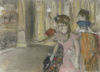 Degas Pastel - Singers On The Stage by Edgar Degas