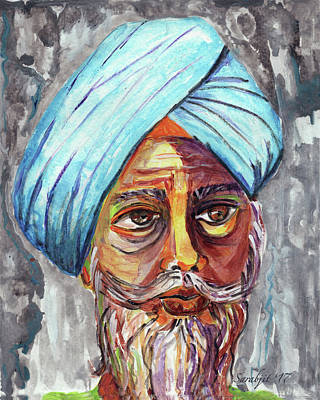 Painting - Singhs And Kaurs-4 by Sarabjit Singh