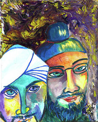 Painting - Singhs And Kaurs-5 by Sarabjit Singh