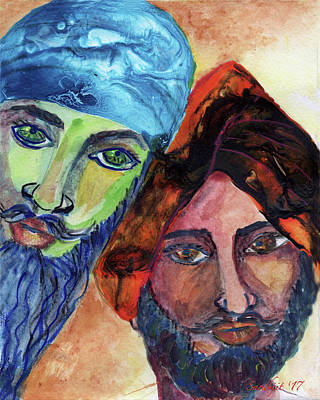 Painting - Singhs And Kaurs-6 by Sarabjit Singh