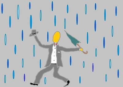 Digital Art - Singin' In The Rain by Van Winslow