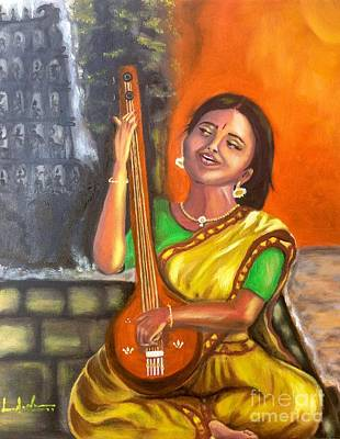 Painting - Singing @ Sunrise  by Brindha Naveen