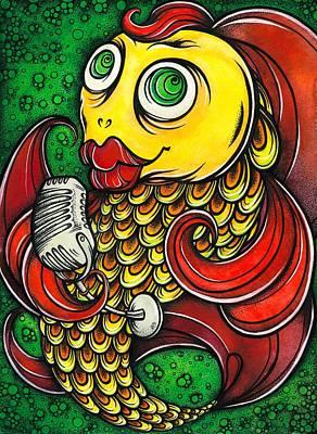 Singing Fish Original by Darya Lavinskaya