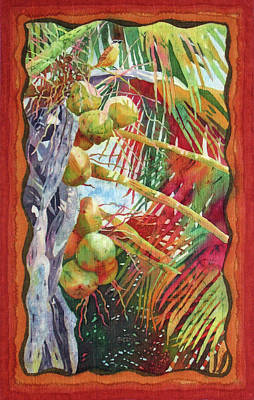 Fiber Art Painting - Singing For Supper 2 by Deborah Younglao