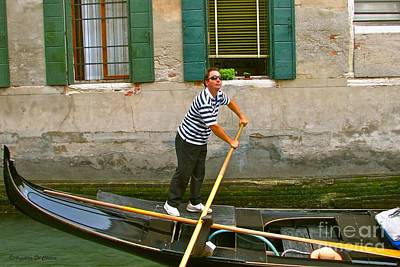 Photograph - Singing Gondolier -venice by Italian Art