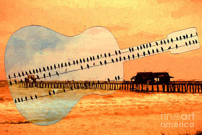 Photograph - Singing Guitar Over Naples Pier by Les Palenik