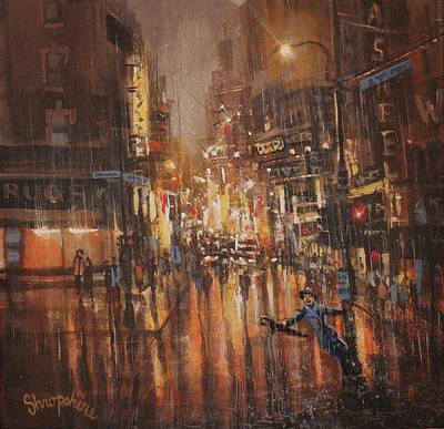 Painting - Singing In The Rain by Tom Shropshire