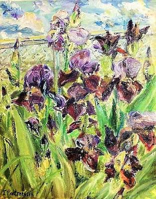 Singing Irises Original by Yelena Patskevich