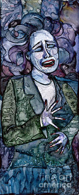 Singing Lady-blues Art Print