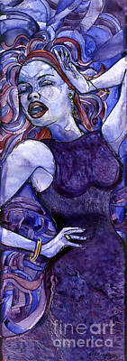 Singing Lady- Jazz Art Print