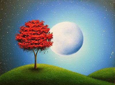 Surreal Landscape Painting - Singing The Night by Rachel Bingaman
