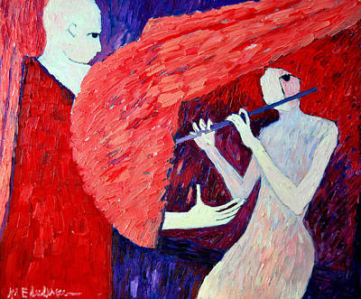 Singing To My Angel 1 Art Print by Ana Maria Edulescu