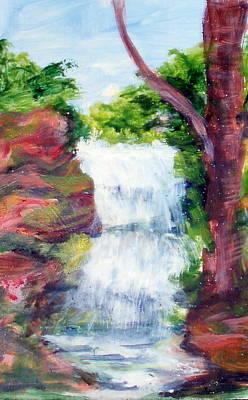 Singing Water Art Print by Lia  Marsman