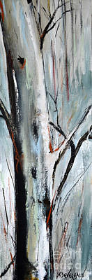 Painting - Single Aspen by Cher Devereaux