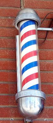 Photograph - Single Barber Shop Lamp by Pamela Walrath