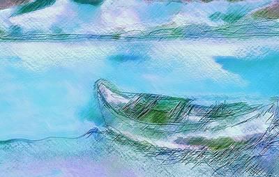 Single Boat On Shore Art Print