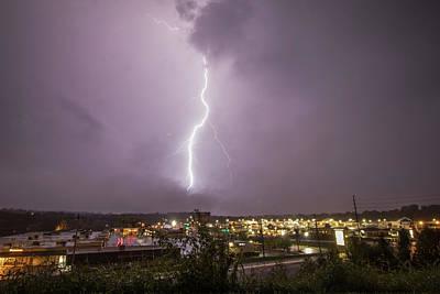 Lightning Photograph - Single Bolt Over Washington, Mo by Tyler Schlitt