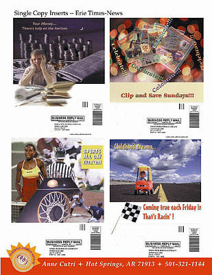 Digital Art - Single Copy Inserts For Erie Times News by Anne Cameron Cutri