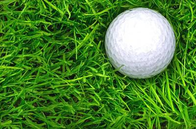 Photograph - Single Golf Ball Laying In Semi Rough Oil Style by John Williams