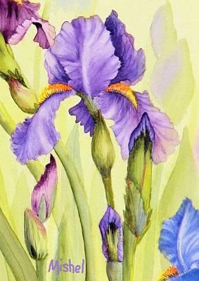 Single Iris Art Print