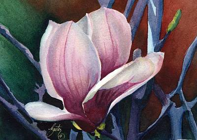 Single Magnolia 2 Print by Daniela Easter