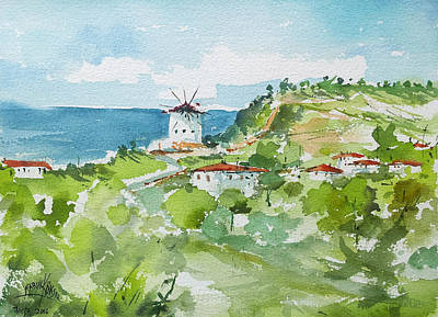 Painting - Single Mill... by Faruk Koksal