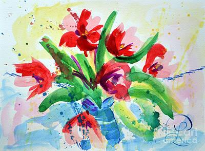 Single Minded Flowers Art Print